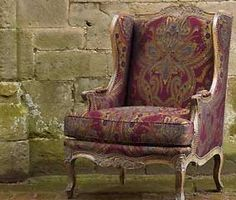 How I miss having a wingback chair. Wingback Chairs, Neo Traditional, My Design, Accent Chairs, Porn, Comfy, Interiors, Colour, Dishes