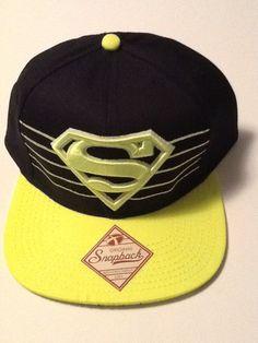 7a9e093104ab8 Superman Hat Cap Neon Green Snapback COMICS COSTUME COSPLAY DC Comics Hat   DCComics  BaseballCap
