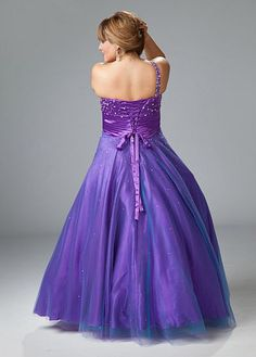 Another image of Sydneys Closet Plus Size One Shoulder Prom Ball Gown SC3028