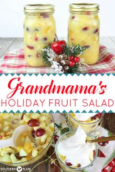 Grandmama's Holiday Fruit Salad ~ https://www.southernplate.com