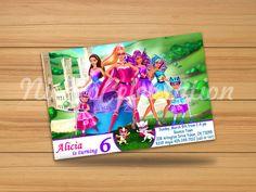 Barbie Princess Power Design Invitation - Digital File