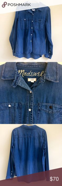 MADEWELL Denim Boyshirt in Campground Wash Faded in all the right places, with a perfectly shrunken fit, both woodsy and polished at once. Cotton. Machine wash . NWOT Madewell Tops Button Down Shirts
