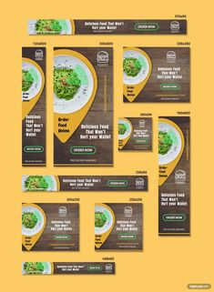 Restaurant Web Banner Ads Template: Download 114+ Banners in Adobe Photoshop   Template.net Creative Advertising, Advertising Design, Ads Creative, Advertising Campaign, Restaurant Advertising, Restaurant Web, Restaurant Marketing, Banner Design Inspiration, Web Banner Design