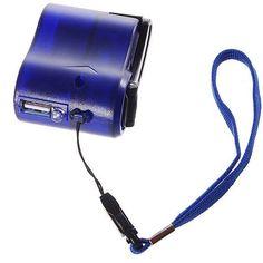 1pcs/lot USB Hand Power Dynamo Torch Charger