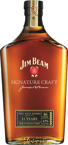 Jim Beam Signature Craft Small Batch Bourbon Whiskey Finished With Rare Brandy Bourbon Whiskey, Scotch Whisky, Good Whiskey, Cigars And Whiskey, Malt Whisky, Whiskey Bottle, Oldest Whiskey, Whiskey Girl, Tequila