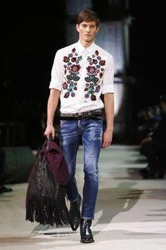 Dsquared2 Menswear Fall Winter 2015 Milan - NOWFASHION Fashion Tag, Live Fashion, Fashion Details, Runway Fashion, Mens Fashion, Fashion 2015, Style Fashion, Aldo Conti, Textiles