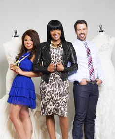 """Say Yes to the Dress's Keasha Rigsby and the cast of her new TV show """"Keasha's Perfect Dress"""" on Slice Network. Wardrobe Styling by Van Yanez. Make up by Roxana Denobrega. David Leyes Photography"""