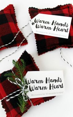DIY Flannel Hand Warmers Upcycle Idea and Sewing Tutorial: the Child at Heart Blog #layeronlove #ad