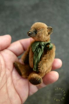 "Dorian May , Miniature Mini 3 1/4"" Artist Teddy Bear from Aerlinn Bears"