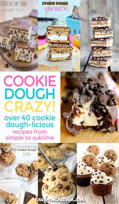 Over 40 recipes with cookie dough???  Let me wipe the drool off my keyboard, these are amazing!