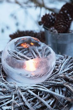 Ice lantern.