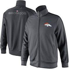 Nike Denver Broncos Classic Full Zip Track Jacket - Anthracite