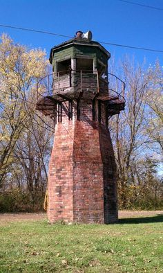 Abandoned lookout tower, Kelley's island, Ohio