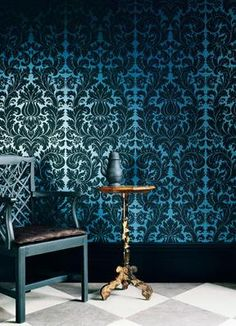 wallpaper @ http://interiordecline.tumblr.com/post/6574377983/gorgeous-wallpaper-by-zoffany