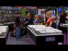 [Observation] Some elusive, geeky girls wander into one of the many male-only sites, a comic book store. As men stare in awe and wonder, (since this is the Big Bang Theory, they are all most likely virgins and losers), the women take pride in the neanderthal-worthy staring they are being subjected to.