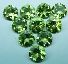 Masterpiece Natural Fine Peridot 5 MM Cut Loose Round Gemstone AAA