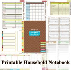 Free Printable Household Notebook