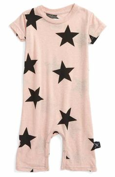 NUNUNU Star Print Romper (Baby Girls) Baby Girl Romper bbded74b8af5