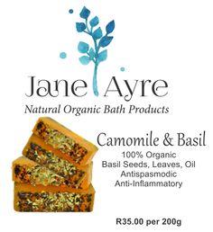 Camomile & Basil 100% Organic Soap