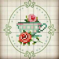 This post was discovered by Sü Tiny Cross Stitch, Cross Stitch Kitchen, Cross Stitch Cards, Cross Stitch Flowers, Cross Stitch Designs, Cross Stitching, Cross Stitch Embroidery, Embroidery Patterns, Hand Embroidery
