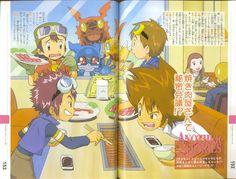 Tai Digimon 1 Digimon 02 Digimon 3 Digimon Tamers Digimon Frontier Agumon Guilmon V-mon Daivis Daisuke Takato Takuya mydigimonworld.tumblr.com