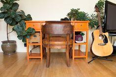 #workspace #orangedesk #interiordesign