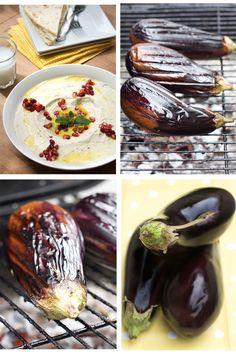 Baba Ghanouj Smoky, Lebanese Eggplant & Tahini Dip from The Jeweled Kitchen Lebanese Recipes, Turkish Recipes, Vegan Recipes, Cooking Recipes, Ethnic Recipes, Lebanese Cuisine, Middle East Food, Middle Eastern Recipes, Tahini Dip