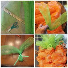 """When I was looking at deco mesh carrots on Pinterest recently,   I saw a lot of questions under the pictures """"pinned"""" about   what kin..."""