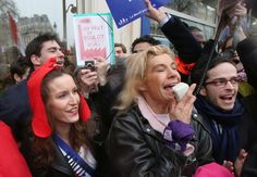 """The French TV host known as """"Frigide Barjot"""" has become the leader of the movement against gay marriage in France. A gay man, and friend of the comedy star, has published an angry open letter on Facebook expressing his dissapointment in her actions."""