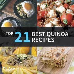 Top 21 Best Quinoa Recipes  http://www.draxe.com #quinoa #homemade #easy