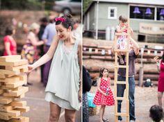 Giant Jenga games for your wedding reception!   Polka Dot Bride