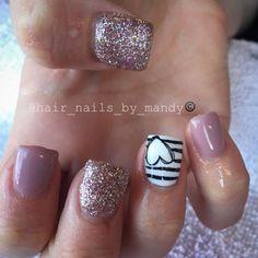 Shellac nails, acrylic dip nails, black gel nails, gel nail tips, gel Diy Valentine's Nails, Cute Gel Nails, Get Nails, Pink Nails, Hair And Nails, Manicure Ideas, Shellac Nails, Stiletto Nails, Acrylic Dip Nails