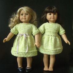 Ravelry: Lime Cooler doll dress pattern by Vita