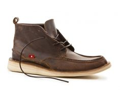 MOGADO HI  Brown/Yellow  MOGADO HI 06-05M-1623    $160        Mens Mocc Chukka Boot Style  Traditional Stitch Down stitching around base  Handstitched at front and back  Premium Dark Brown Suede Upper  100% Goat Leather Dark Brown Lining  Vegetable Tanned Leather MidSole  Recycled Crepe rubber sole with Wedge  4mm square leather laces  Made in Ethiopia