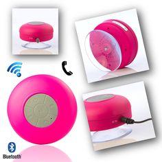 Bluetooth Waterproof Wireless Shower Handsfree Mic Suction Chuck Speaker Pink