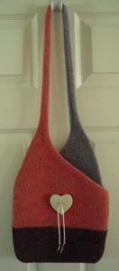 Crossover Bag Pattern, Original Felted Handbag Patterns