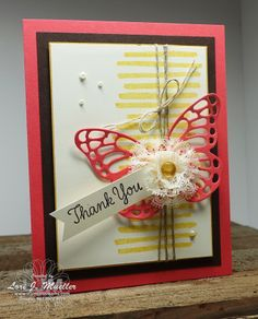 StampinDreams.com    Stampin Up; Playful Backgrounds stamp set; Thankful Thoughts stamp set