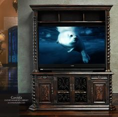 Hand Painted.. Hand Carved Entertainment Cabinets at Accents of Salado. Furniture built the old fashion way for today's modern Mediterranean style homes. Accents of Salado Furniture Store