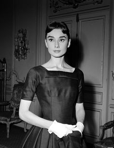 Audrey Hepburn on the set of Love in the Afternoon, 1956.