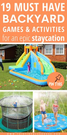 Step up the level of backyard fun this summer with these best epic Summer Backyard Must Haves. From fun water games to cool off to awesome family friendly lawn games, these backyard must haves are a must when you're planning to spend a ton of time at home. #staycation #backyardstaycation #funbackyardideas #staycationideaswithkids #fundiyideasforbackyards #summerbackyardideasforkids
