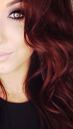 Dark Mahogany Red hair color. Always one of my favorites!!