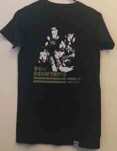 d4280817a XXS/XS Foo Fighters 1990s Band Nirvana Concert T shirt Dave Grohl 1990s  Music Concert Band T shirts Black Tops Men Women Boys Girls