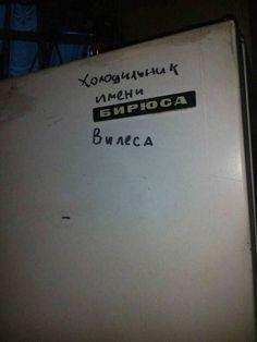 Внезапно холодильник, Бирюса, Брюс Уиллис
