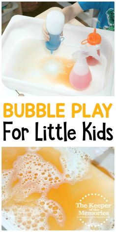 Have a splashing good time with this Bubble Play STEAM Activity for little kids! Toddlers and preschoolers alike will enjoy experimenting with mixing colors and making bubbles. This activity is quick & easy and provides a great sensory experience. Bubble Activities, Preschool Art Activities, Sensory Activities Toddlers, Steam Activities, Sensory Play, Toddler Preschool, Sensory Table, Toddler Classroom, Baby Sensory