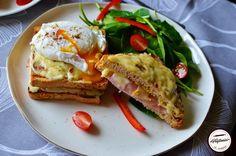 Croque Madame, Croque Monsieur-sandwich-uri calde Breads, Sandwiches, Toast, Breakfast, Food, Croque Monsieur, Bread Rolls, Morning Coffee, Eten