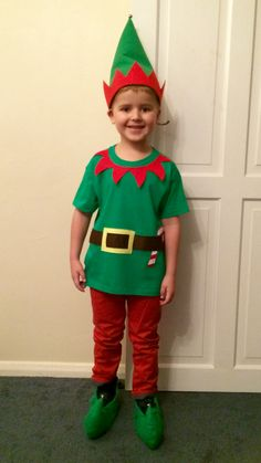 How to make an easy elf costume costume pinterest elves elf costume christmas diy solutioingenieria Choice Image
