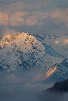 sunset in the alps, Valais, Switzerland