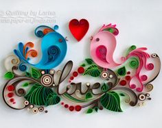 Quilling Wall Art. Quilling Flower Art. by BeautyAndJoyForYou