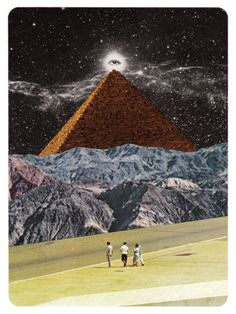 Collage by Bene Rohlmann Art Du Collage, Surreal Collage, Collage Illustration, Surreal Art, Digital Collage, Photomontage, Collages, Georges Braque, Universe Art