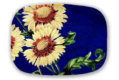 Title: Sunflowers  This is for 1 platter    ***Available to USA only***    This design has a matching platter available for separate purchase: